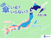 ひと目でわかる 今日の傘マップ  7月10日(火)