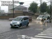 西日本から東日本の広範囲でゲリラ豪雨 降雹や道路冠水も