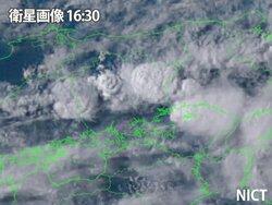 画像:岡山県内で雨雲急発達 今夜も激しい雨に注意
