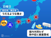 """連休2日目も""""危険な暑さ""""続く 北海道は強雨に注意"""