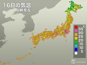 東京 三連休中は全日7時台に30℃超え
