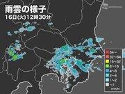 東京など関東南部で雨雲発達 一時的な強い雨に注意