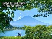 2年ぶりに開山の富士山 盛夏の空に映える姿
