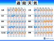 週間天気予報 西日本は来週梅雨明けか 東日本は大雨のおそれ