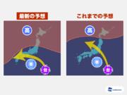 台風12号、西へ進む異例の逆走 高気圧と寒冷渦で複雑化