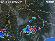 山梨県で1時間に約100mmの猛烈な雨 記録的短時間大雨情報を発表