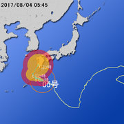 【台風第5号に関する情報】平成29年8月4日05時19分 気象庁予報部発表