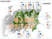9日 関東甲信 急な雨や落雷 東京など蒸し暑さ 熱中症に厳重警戒