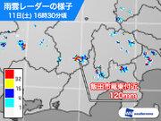 長野県で120mmの猛烈な雨 記録的短時間大雨