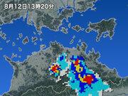 香川県で90mmの猛烈な雨 記録的短時間大雨