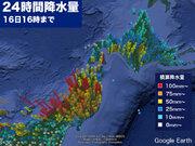 東北で再び強い雨に 北海道でも24時間雨量が100mm超