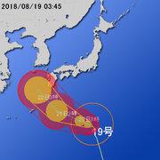 【台風第19号に関する情報】平成30年8月19日05時14分 気象庁予報部発表