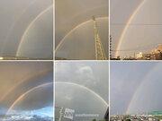 今朝は名古屋など愛知県周辺で虹ラッシュ!