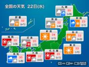 22日(水) 台風19号の影響による強い雨と厳しい暑さ