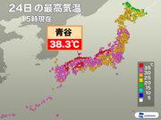 台風去って猛暑復活 鳥取・青谷で38.3℃を観測