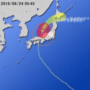 【台風第20号に関する情報】平成30年8月24日05時21分 気象庁予報部発表
