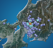 岐阜県で震度3の地震発生