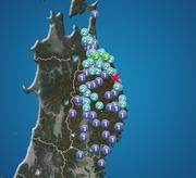 青森県で震度3の地震発生