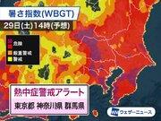 明日土曜、東京など3都県に熱中症警戒アラート