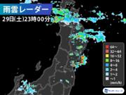 宮城県で1時間に約100mmの猛烈な雨 記録的短時間大雨情報