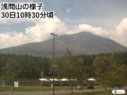 浅間山の噴火警戒レベル1に引き下げ 約3年ぶり