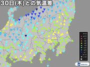 関東南部は昨日以上の暑さ 東京では35℃の猛暑日予想
