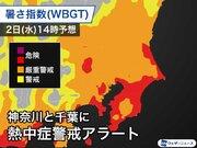 関東で暑さぶり返す 神奈川県と千葉県に熱中症アラート
