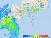 台風21号から遠い関東も朝から強雨に