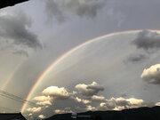 台風最接近時に富山で虹が出現