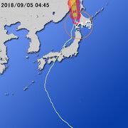 【台風第21号に関する情報】平成30年9月5日04時40分 気象庁予報部発表