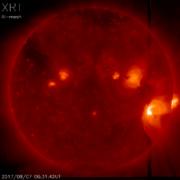 太陽フレアによる磁気嵐が発生 気象庁が観測、2年ぶりの大きな変動
