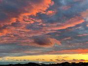 秋雨前線の置き土産 怪しい近畿の夕焼け
