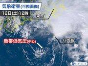 熱帯低気圧は中心付近に雲が少ない 雨のピークは最接近の前に