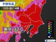 東京は32℃予想で夏に戻ったような暑さ 内陸部では今年最後の猛暑日か