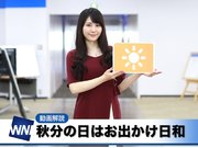 あす9月23日(日)のウェザーニュース・お天気キャスター解説
