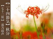 二十四節気「秋分」 有名な暦の一つ、秋分の特徴とは?