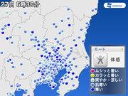 晩秋を思わせる冷たい雨 東京で今季初の15℃以下