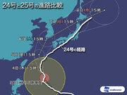 台風25号 24号より大回りルートはなぜ?