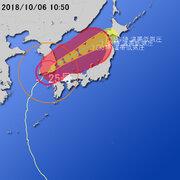 【台風第25号に関する情報】平成30年10月6日10時43分 気象庁予報部発表