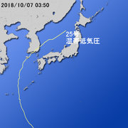 【台風第25号に関する情報】平成30年10月7日05時02分 気象庁予報部発表