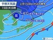 来週はさらに季節が前進 北海道は平地でも雪の可能性