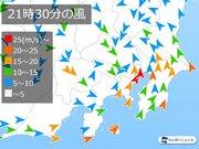 東京で最大瞬間風速41.5m/s 観測史上2位、15年ぶりの暴風