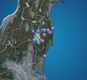 福島県で震度3の地震発生