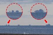 島が浮いて見える!? 石川・輪島で蜃気楼