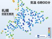 札幌で「初霜」観測 平年より5日早く