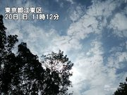 20日(日)の東京は5日ぶりの日照観測 肌寒さはようやく解消