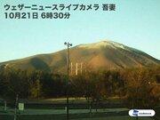 浅間山が初冠雪 平年より7日い観測