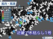 近畿で昨日23日(金)に木枯らし1号 去年より12日早い
