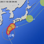 【台風第22号に関する情報】平成29年10月28日04時37分 気象庁予報部発表