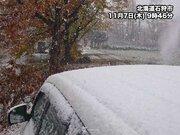 札幌で初雪 平年より10日遅く